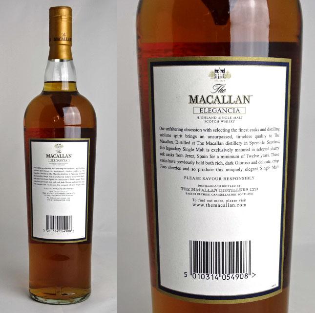 有ereganshia 1000ml 40度苏格兰威士忌·威士忌箱子makkaran 12年的MACALLAN ELEGANCIA A01261
