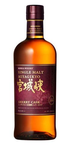 3000 限量版日嘉宫城县三峡桶威士忌 700 毫升 48 度日嘉单一麦芽 MIYAGIKYO 雪利酒桶日本威士忌酒