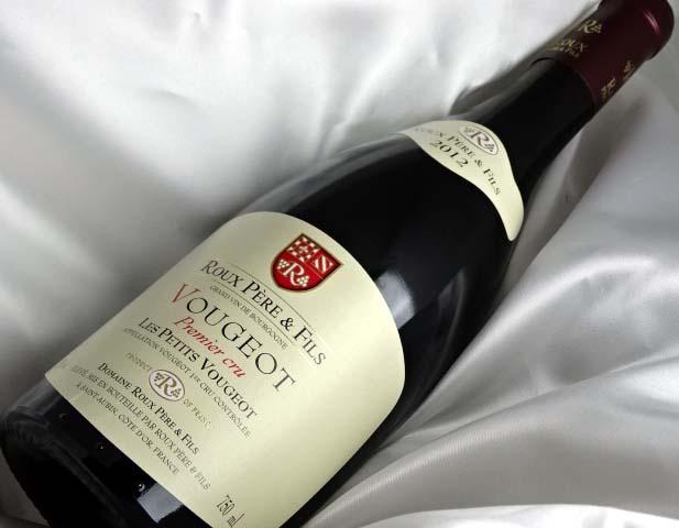 ヴージョ プルミエ クリュ レ プティ ヴージョ [2012] 750ml フランス/ブルゴーニュ 赤ワイン VOUGEOT Premier cru LES PETITS VOUGEOT(Roux Pere&Fils) A01949