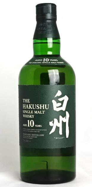 Hakushu 10 years single malt whisky 700 ml 43 ° box with SUNTORY THE HAKUSHU SINGLE MALT WHISKY AGED 10 YEARS A02518