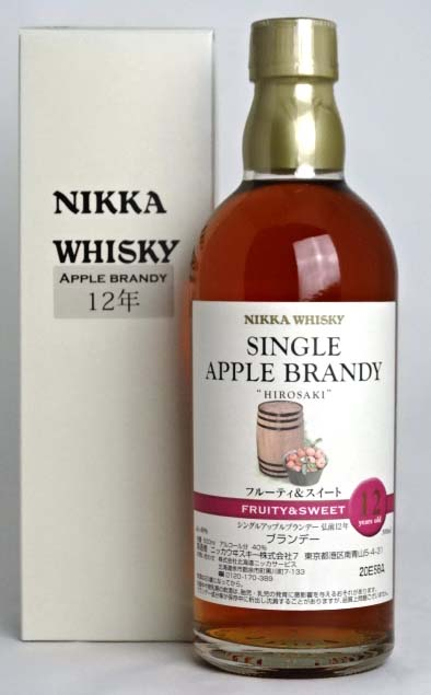 Nikka single Apple brandy hirosaki 12, fruity & sweet 500 ml 40 degrees NIKKA SINGLE APPLE BRANDY HIROSAKI 12years old FRUITY &SWEET A02968