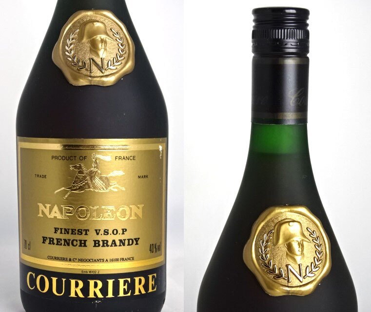 ♦ old bottle ♦ courier Napoleon 700 ml 40 times brandy COURRIERE NAPOLEON A03762