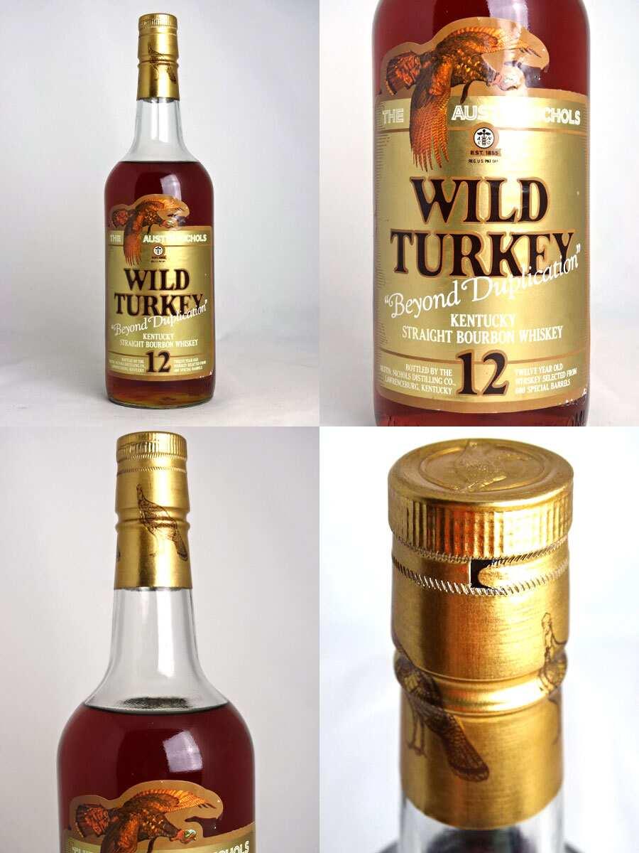 ♦ 舊瓶 ♦ 野生火雞 12 年黃金之外重複 700 毫升 40 倍波本威士卡 / 威士卡重複 A03963 超越野生火雞