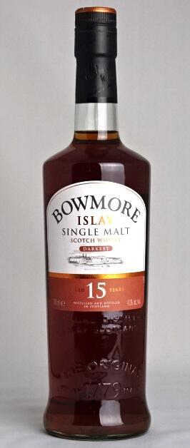 鲍莫尔 15 年 700 毫升 43 次黑暗麦芽苏格兰威士忌鲍莫尔黑暗艾莱单一麦芽苏格兰威士忌水货 A05135