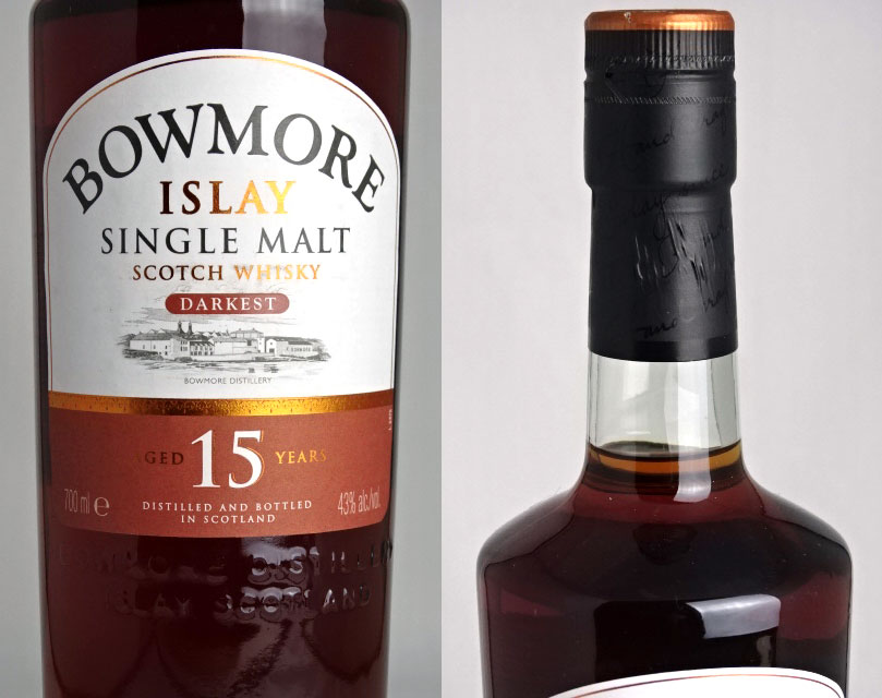 Bowmore 15 years 700 ml 43 times the darkest malts Scotch whisky BOWMORE DARKEST ISLAY SINGLE MALT SCOTCH WHISKY parallel goods A05135