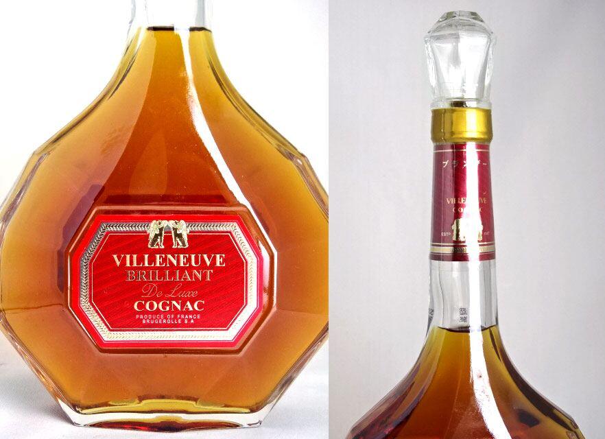 virunububuririantoderakkusureddo 700ml 40度VILLENEUVE COGNAC BRILLIANT DELUXE RED白兰地/白兰地酒A06131