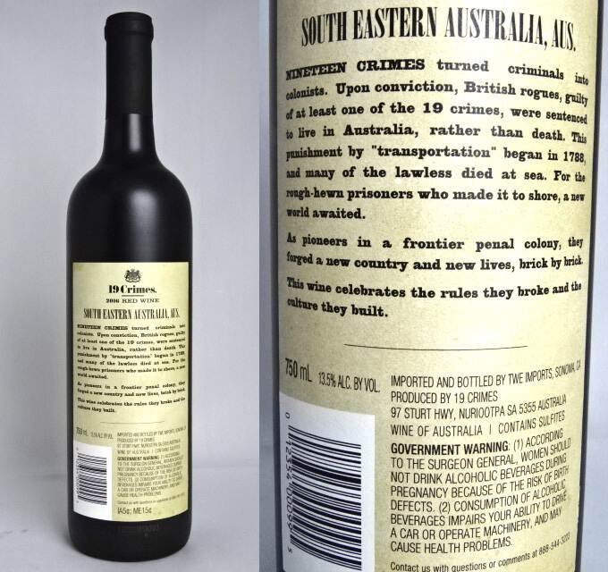 750 Ml Of Red Wine Blend2016ninecrimes 13 5 Degrees Australia Red Wine Red Wine Red Blend A09514