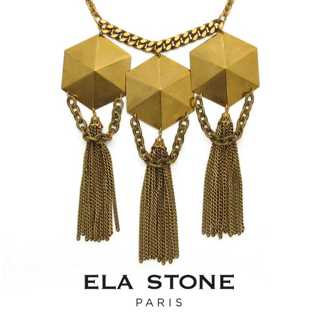 ela stone(エラ ストーン)Simona Plastron シモーナ ネックレス フランス ゴールド スタッズ 24k ジャラジャラ【送料無料】【無料ラッピング】
