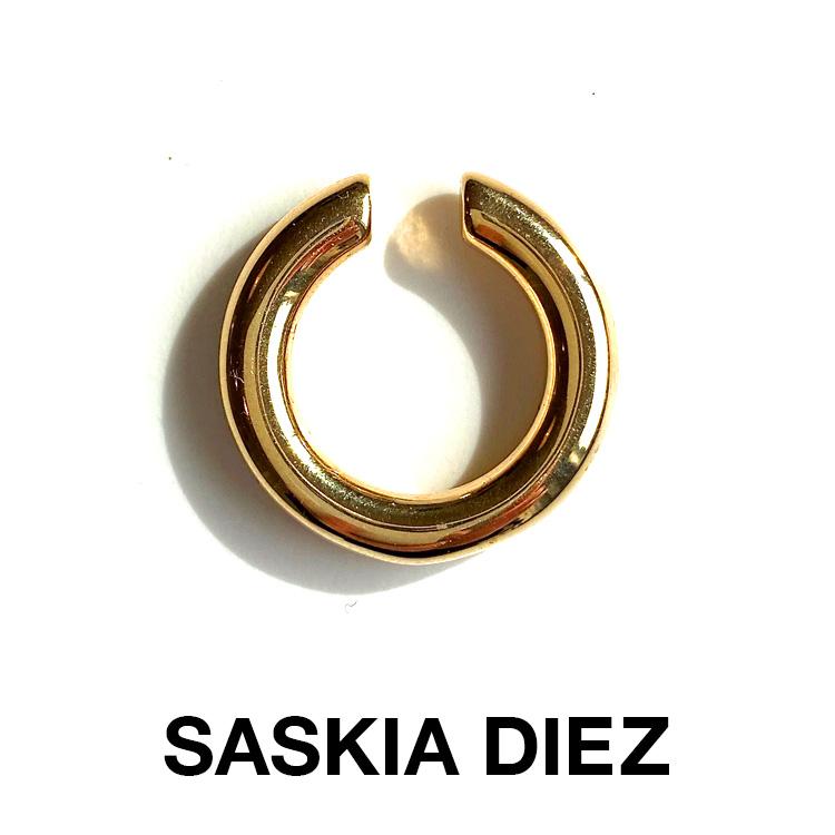 SASKIA DIEZ サスキア ディッツ GOLD BOLD EARCUFF NO3 530033 ゴールド ボールド イヤーカフ 片耳用 レディース gold plated ノンホールピアス セレクトショップ取り扱い サスキア ディツ 大ぶり【ラッピング無料】