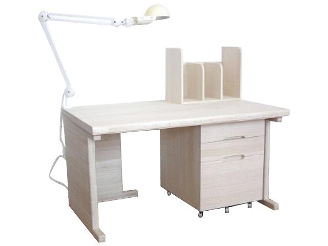 【受注生産】健康デスク 本棚(Bタイプ) 桐 学習机 天然木