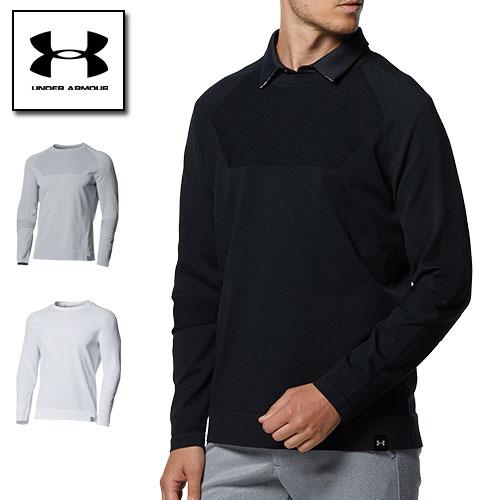 2021FW新商品 アンダーアーマー メンズ セーター 返品不可 ゴルフ 動きやすい コールドギア 冬用 1369333 インテリニット クルー ARMOUR 新入荷 流行 UNDER