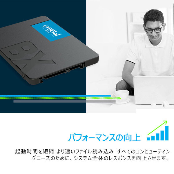 2 5 inches of Crucial クルーシャル SSD 480GBBX500 SATA 6 0Gb/s built-in 7mm  CT480BX500SSD1 global packages