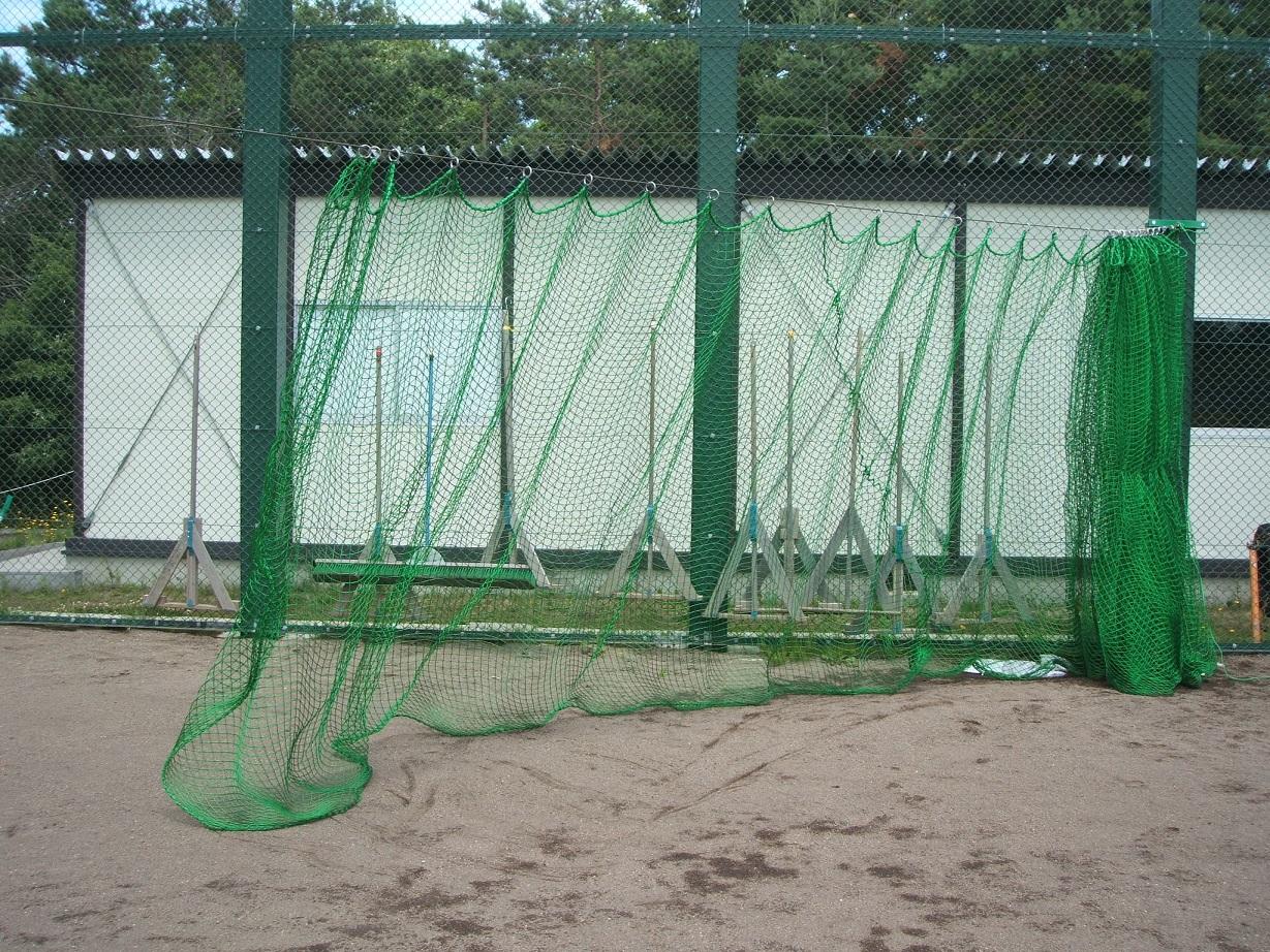 【野球用ネット】野球 防球ネット 37.5角-90本 Tネット用カーテン3M×8Mリング付 カーテン仕様(受注生産)