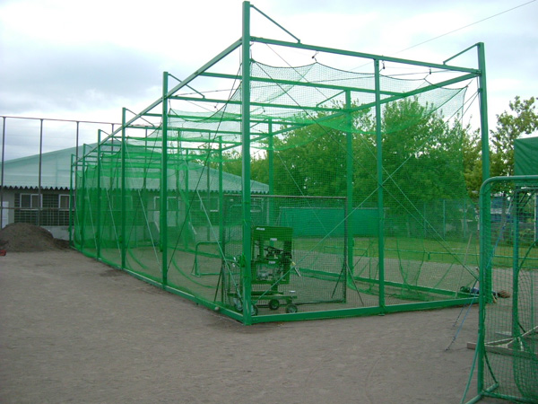 【打撃練習用】バッティング用ゲージ とりかご 幅5.5m長さ24m高さ4m 野球 防球ネット 防護ネット 防球フェンス
