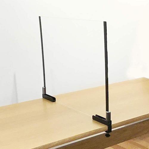 代引き不可 カンタン設置で飛沫をブロック テーブルにしっかりと固定できるパーテーションです 河淳 本物 KAWAJUN テーブルパーテーションキャッチャーセット テレビで話題 飛沫ガード WFM321WFM108 衛生管理 柵 仕切 サイズ:H600xW900x5t