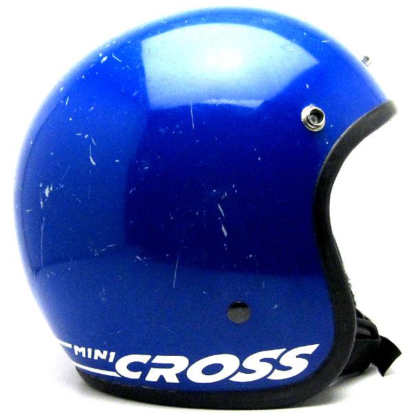 【6月30日値下】BELL MINI CROSS BLUE 53cm 【海外直輸入中古品】ビンテージスモールジェットヘルメットオープンフェイスベルbucoブコshmタチバナ立花バイクバイカーUSAアメリカンハーレーイージーライダーホンダヤマハMOMO