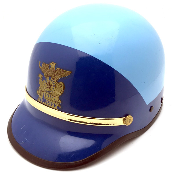 60's BELL TOPTEX POLICE LIGHT BLUE×BLUE 60cm 【海外直輸入中古品】ハーフヘルメット半キャップ半帽半ヘルアメリカンベルポリスブルー青色Lサイズ
