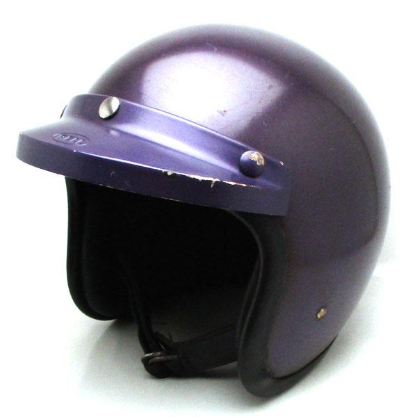 純正バイザー付 BELL 500-TX PURPLE 63cm 【海外直輸入中古品】スモールジェットヘルメットオープンフェイスアメリカンベルパープル紫色XXLサイズ