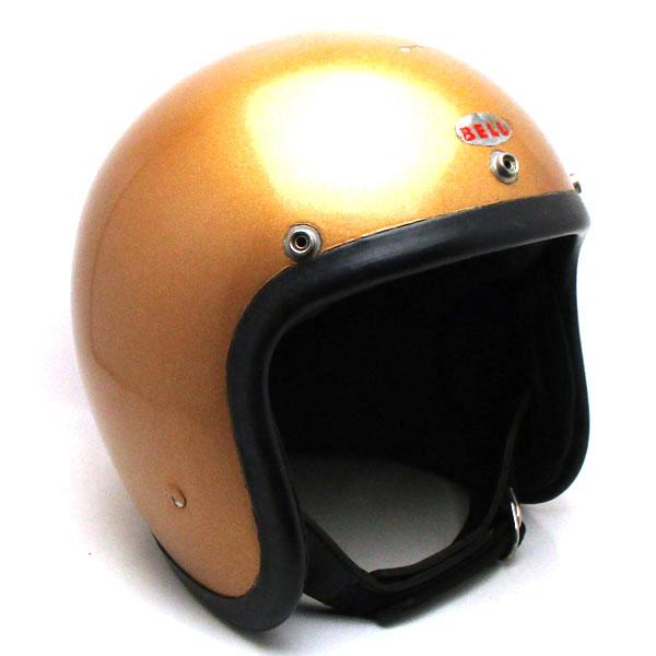Wストラップ 銀ベル BELL 500-TX GOLD 59cm 【海外直輸入中古品】スモールジェットヘルメットオープンフェイスアメリカンベルゴールド金色Mサイズ