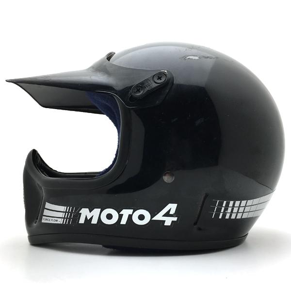 純正バイザー付 BELL MOTO4 BLACK 57cm 【海外直輸入中古品】フルフェイスヘルメットアメリカンオフロードモトクロスvmxダートトラッカートレールスクランブラーエンデューロベルモト4ブラック黒色S~Mサイズ