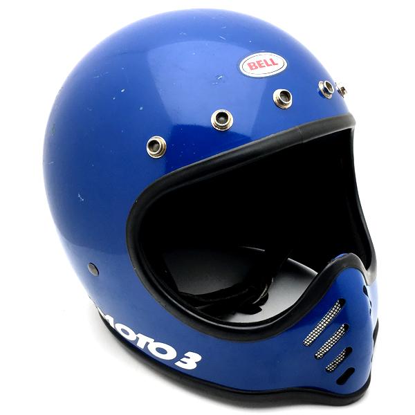 ヴィンテージvintageクラシック単車旧車ライダービンテージバイク用チョッパーバイク乗りchopperハーレーharleyオールドスクールoldskoolお洒落オシャレバイカーファッションツーリング BELL MOTO3 BLUE 62cm フルフェイスヘルメットアメリカンオフロードモトクロスvmxダートトラッカートレールスクランブラーエンデューロベルモト3ブルー青色XLサイズ