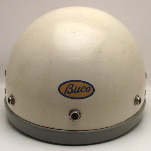 純正チンカップ付 60's BUCO SPARTAN WHITE 58cm 【海外直輸入中古品】ハーフヘルメット半キャップ半帽半ヘルブコスパルタンホワイト白色Mサイズ