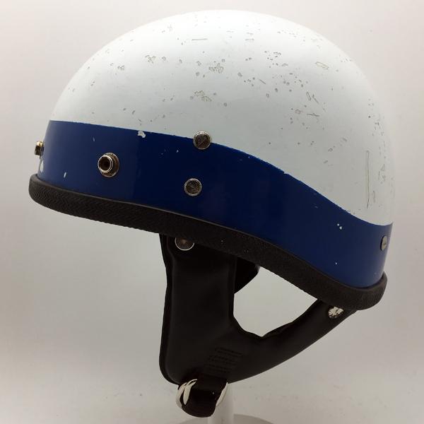 60's BUCO GUARDIAN BLUE × WHITE 【海外直輸入中古品】ハーフヘルメット半キャップ半帽半ヘルブコガーディアンブルー青色ホワイト白色フリーサイズ