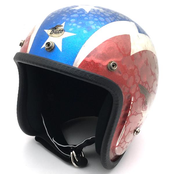 BUCO GALAXY 59cm 【海外直輸入中古品】スモールジェットヘルメットオープンフェイスアメリカンブコギャラクシー星条旗thunderboltサンダーボルトcaptainamericaキャプテンアメリカM~Lサイズ