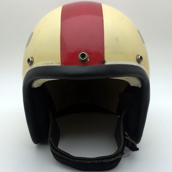 60's Wストラップ A.G.V.BONNEVILLE GLADIATOR B4 白 58cm スモールジェットヘルメットオープンフェイスヨーロピアンホワイト白色Mサイズ