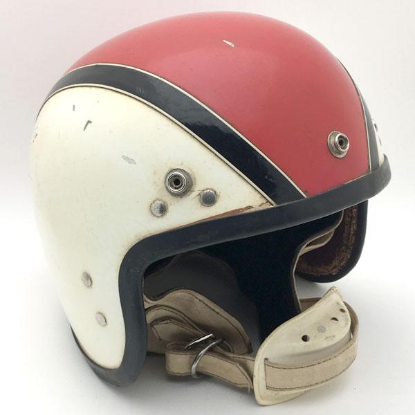 STADIUM PROJECT4 WHITE × RED 60cm 【海外直輸入中古品】スモールジェットヘルメットオープンフェイスヨーロピアンスタジアムプロジェクト4ホワイト白色レッド赤色Lサイズ