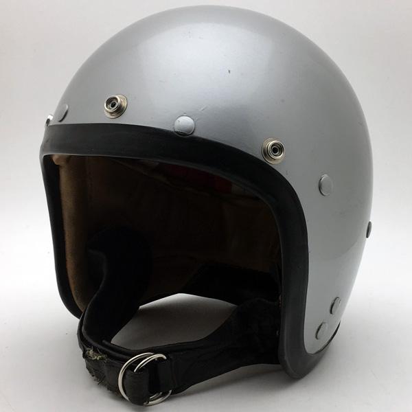 値段が激安 60&39;s Wストラップ A.G.V. SILVER 56cm 【海外直輸入品】スモールジェットヘルメットオープンフェイスヨーロピアンシルバー銀色メタリックSサイズ, ファビュラス モダーンズ b0d4842b