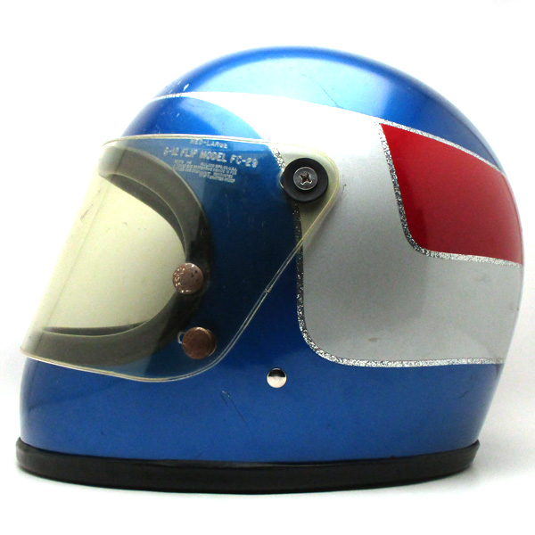 シールド付 MONARCH METALLIC BLUE 60cm フルフェイスヘルメット族ヘルオンロードブルー青色メタリックLサイズ