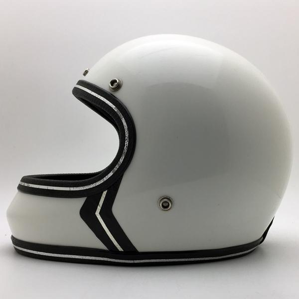 FULLFACE WHITE 56cm 【海外直輸入中古品】フルフェイスヘルメット族ヘルオンロードホワイト白色Sサイズ