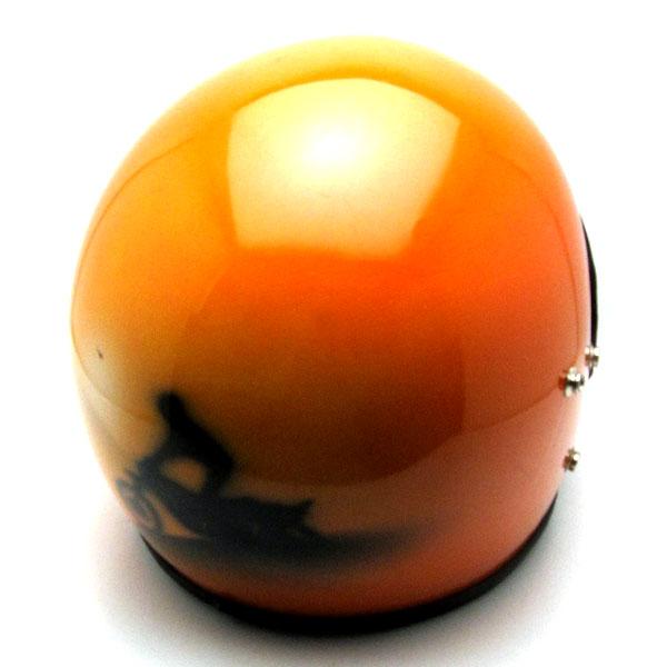 SCENE ORANGE 59cm 【海外直輸入中古品】フルフェイスヘルメット族ヘルオンロードオレンジ橙色M~Lサイズ