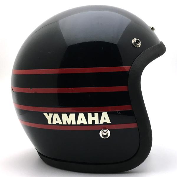YAMAHA BORDER BLACK 59cm 【海外直輸入中古品】スモールジェットヘルメットオープンフェイスアメリカンヤマハブラック黒色M~Lサイズ