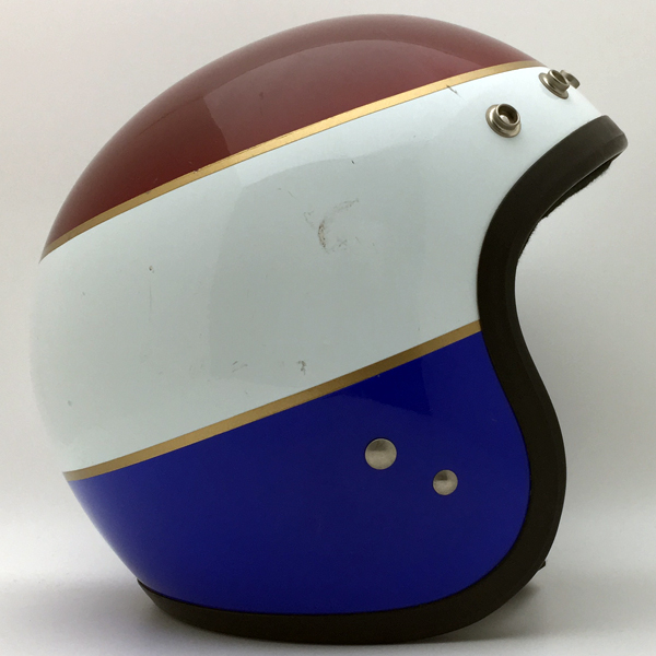 HONDALINE STAG TRICOLOUR 56cm 【海外直輸入中古品】スモールジェットヘルメットオープンフェイスアメリカンホンダライントリコロールSサイズ