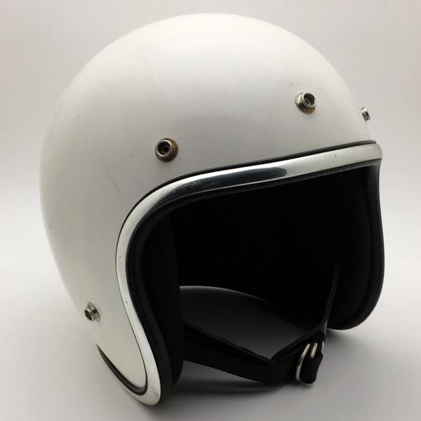 ARTHUR FULMER AF40 WHITE 60cm 【海外直輸入中古品】スモールジェットヘルメットオープンフェイスアメリカンアーサーフルマーホワイト白色Lサイズ