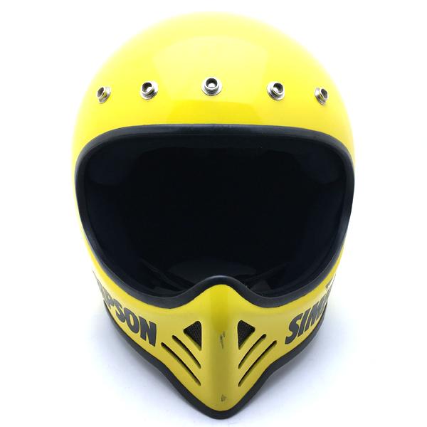 SIMPSON M52 YELLOW 60cm 【海外直輸入中古品】フルフェイスヘルメットオフロードモトクロスvmxダートトラッカートレールスクランブラーエンデューロシンプソンmodel52モデル52イエロー黄色Lサイズ