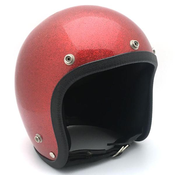 JET RED METALFLAKE 58cm 【海外直輸入中古品】スモールジェットヘルメットオープンフェイスアメリカンレッド赤色ラメメタルフレークLサイズ
