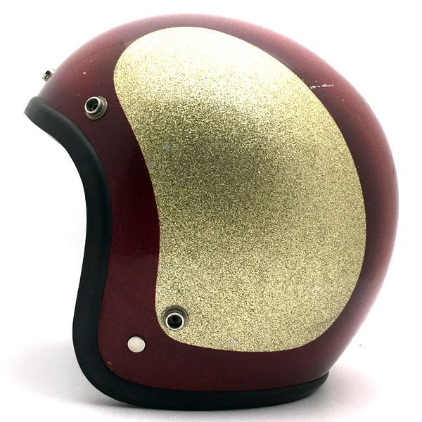 【5月13日値下】SAFETECH 初期型 RED × GOLD 60cm 【海外直輸入中古品】スモールジェットヘルメットオープンフェイスアメリカンセーフテックレッド赤色ゴールド金色Lサイズ