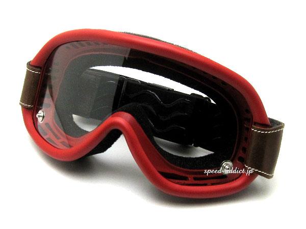 baruffaldi SPEED レッド赤色オフロードオフ車ヘルメットフルフェイス半ヘルレトロクラシカルダートラvmxビンテージモトクロスダートレースバイクレース GOGGLE(バルファルディスピード4ゴーグル)RED 4