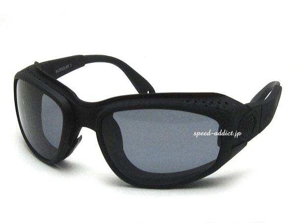 nannini Modular 1 Fast(ナンニーニモジュラー1ファスト)BLACK ブラック黒色bikershadeバイカーシェードメガネ眼鏡めがねゴーグルgogglesサングラスsunglassesスポーツ保護ガードアイウエアアウトドアバイク用スピード防塵定番プロテクター
