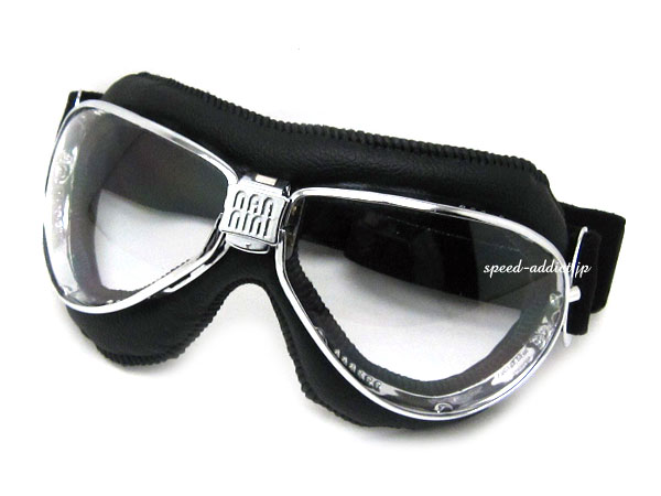 nannini TT GOGGLE(ナンニーニTTゴーグル)BLACK/CHROME × ANTI FOG CLEAR ブラック黒色クロムツーリストトロフィーイギリスマン島ティーティーレースオートバイ競技マンクスグランプリレーサーティアドロップヨーロピアンレトロクラシカル