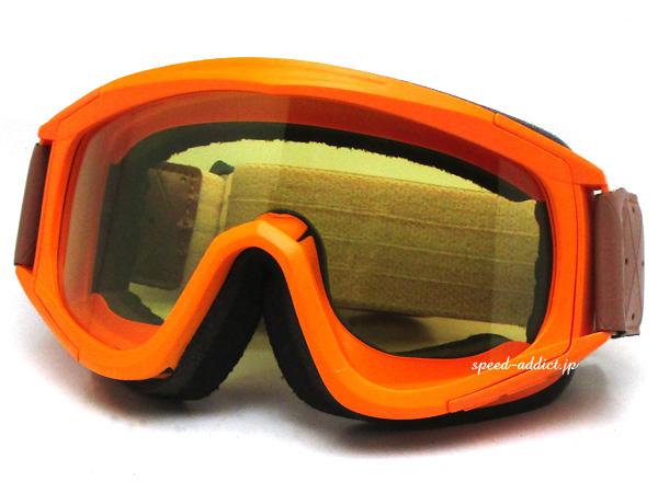 Biltwell OVERLAND GOGGLE(ビルトウェルオーバーランドゴーグル) オレンジイエローレンズオフロードバイクvmxビンテージモトクロスオートバイダートトライアルレーストラッカー二輪車用山道アイウェア防風防塵軽量エンデューロヘルメット用