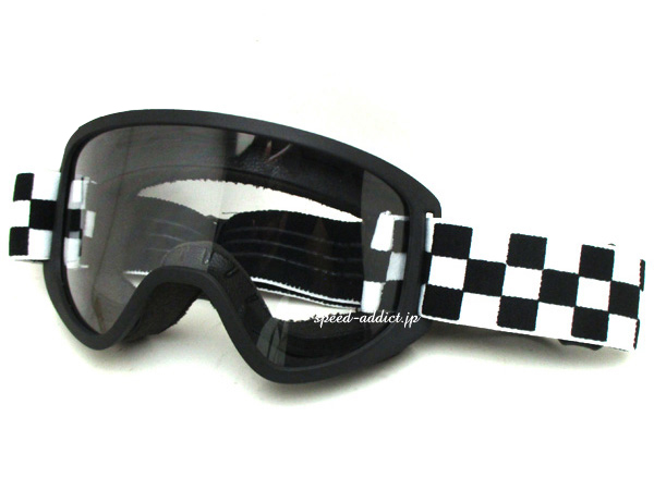 Biltwell MOTO 2.0 GOGGLE(ビルトウェルモト2.0ゴーグル)Checkers チェッカーフラッグchecker flag白黒市松模様チェックvmxビンテージモトクロスオフロードバイクオフ車トラッカーエンデューロオーバーグラスメガネ対応眼鏡対応アメリカ
