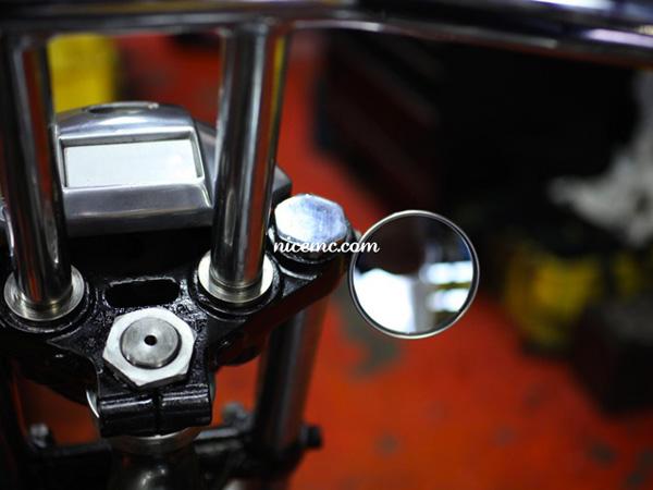 Nice!Motorcycle 2inch MIRROR(ナイスモーターサイクル2インチミラー)ステー穴8φ ハーレーダビッドソンハーレー用汎用ローポジションラウンドバイクミラーミニショートスタンダードロング右用左用スポーツスターsportsterxl883xl1200