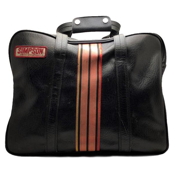 【5月13日値下】SIMPSON HELMET BAG(シンプソンヘルメットバッグ) 【海外直輸入中古品】当時物レースレーサーカバン鞄superbandit9スーパーバンディット13m30m32m50m52m61m62モデル30モデル32モデル50モデル52モデル61model30model32model50model5270s70年代