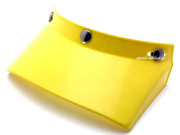 USA製 Dead Stock VINTAGE PAULSON MOTO PEAK VISOR(デッドストックビンテージポールソンモトピークバイザー)YELLOW 黄色イエローヘルメットバイザーhelmet visorオフロードバイクオフロードヘルメットvmxトラッカーダートレース
