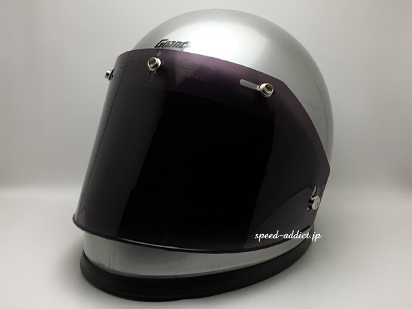 Dead Stock VINTAGE PAULSON 5 SNAP FLAT SHIELD(デッドストックビンテージポールソン5スナップフラットシールド)SMOKE ジェットヘルメットスクリーンプロテクターガード防風対策防塵防風定番フルフェイス保護