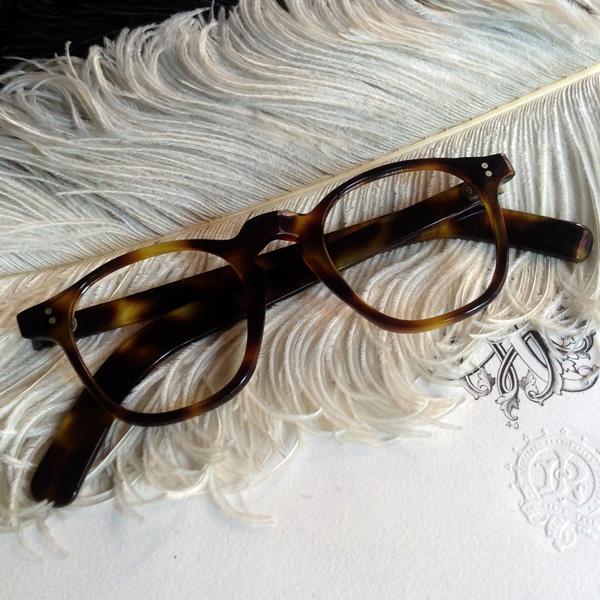 40's FRANCE PARISIAN GLASS(40sフランスパリジャングラス) べっ甲デミカラー鼈甲べっこうトートイズシェルウェリントンフレーム定番シェイプ眼鏡メガネめがねセルロイド男女兼用メンズレディース